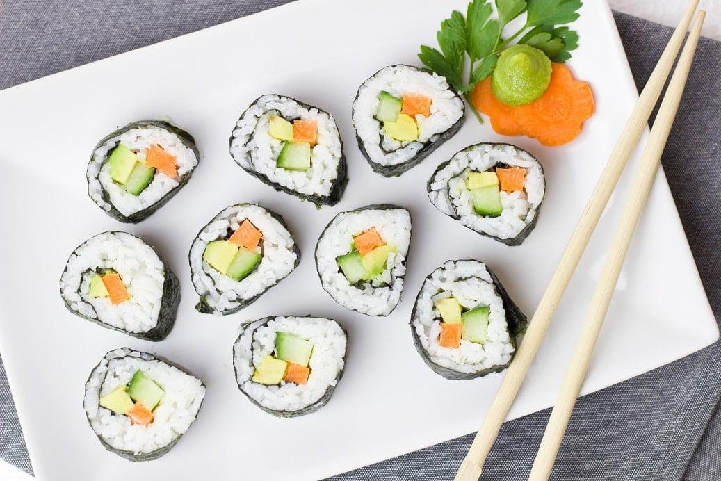 Beste manier om sushi te eten